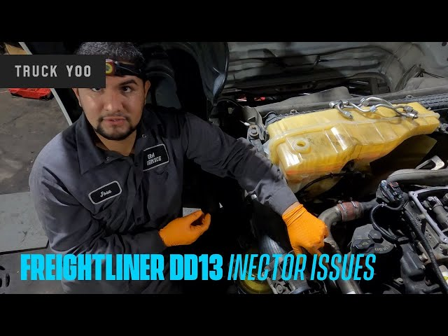Freightliner DD13 Injector issues. Why do you smell fuel?