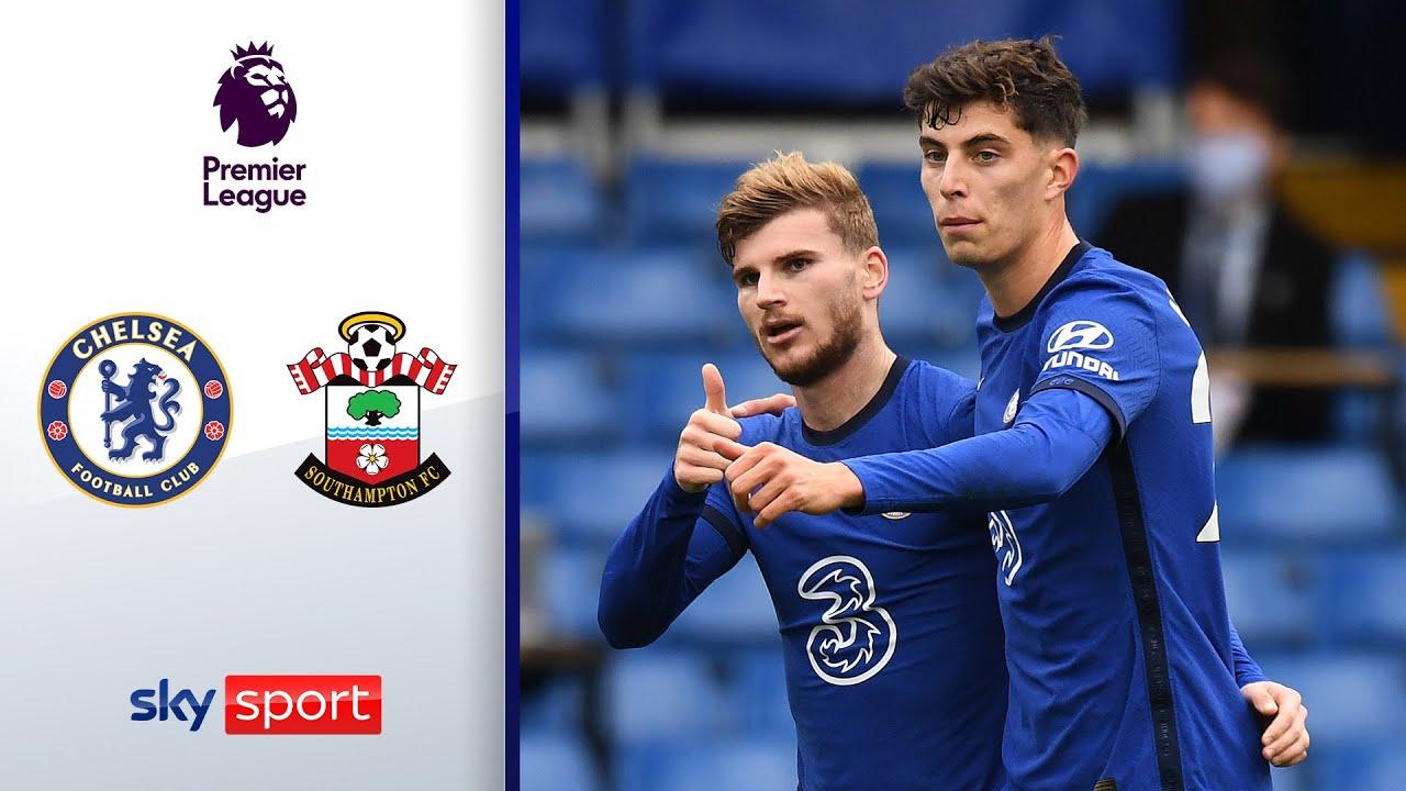 Download Werner & Havertz mit Premierentoren   FC Chelsea - FC Southampton 3:3   Highlights - Premier League