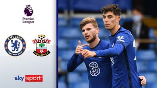 Werner & Havertz mit Premierentoren | FC Chelsea - FC Southampton 3:3 | Highlights - Premier League
