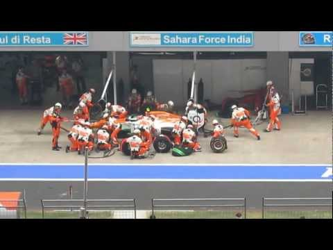 Sahara Force India pit stop