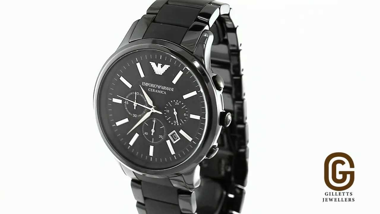 d8e741cc22257 Armani Ceramic Chronograph Men s watch - AR1451 - YouTube
