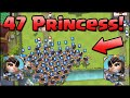 47 PRINCESSES! New World Record! Clash Royale - Most Princess on Map & NEW UPDATE CHANGES