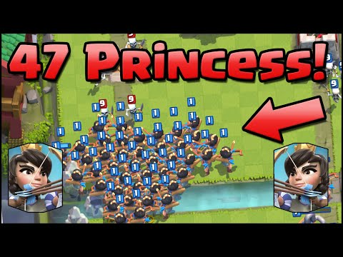 47-princesses!-new-world-record!-clash-royale---most-princess-on-map-&-new-update-changes