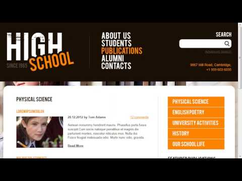 High School Education Website Template