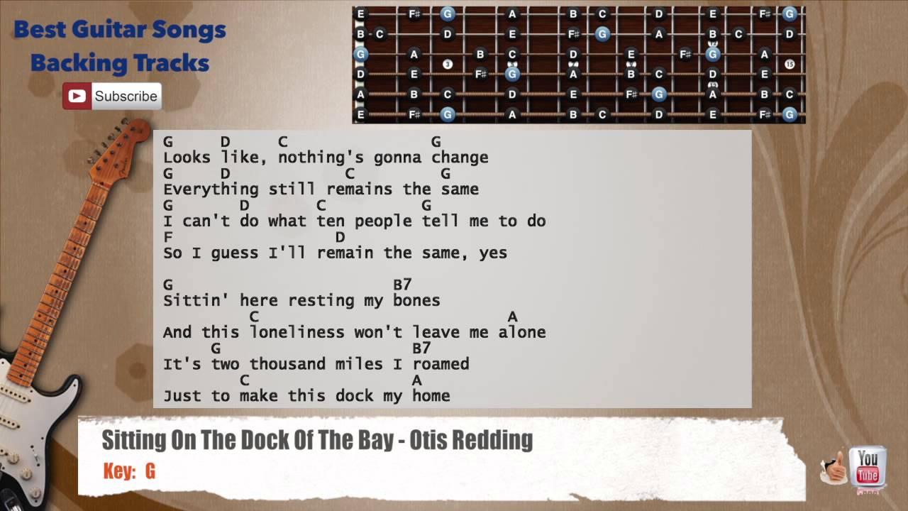 Sitting On The Dock Of The Bay Otis Redding Guitar Backing Track