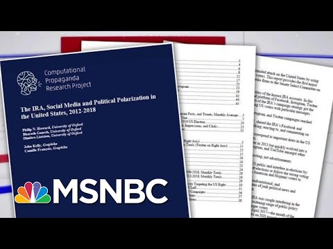 Senate Report: Russia Used Social Media To Help President Trump Campaign | Velshi & Ruhle | MSNBC