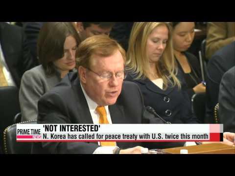 U.S. rejects N. Korea′s renewed demand for peace treaty talks   미국 ″북한과 평화협