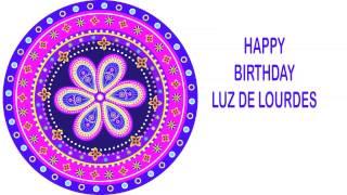 LuzdeLourdes   Indian Designs - Happy Birthday