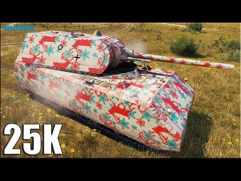Танканул 25к урона ✅ World of Tanks Maus лучший бой