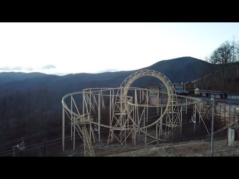 AMERICAS ABANDONED Roller Coaster & Theme Park GHOST TOWN IN THE SKY