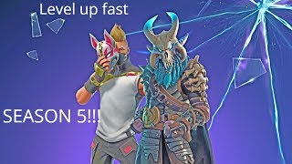 Tips to level up fast! Season 5 Battle Pass Fortnite Battle Royale Tier 100 Skin EASY!
