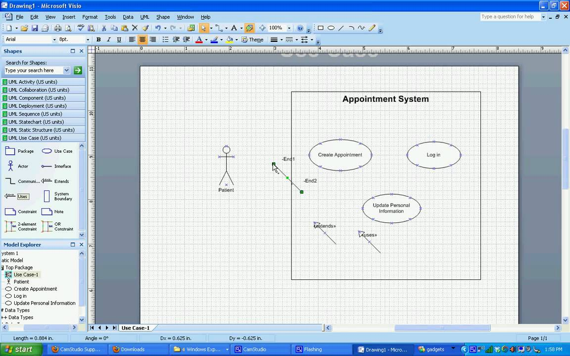 UML Use Case Diagrams in Visio 2007 - YouTube