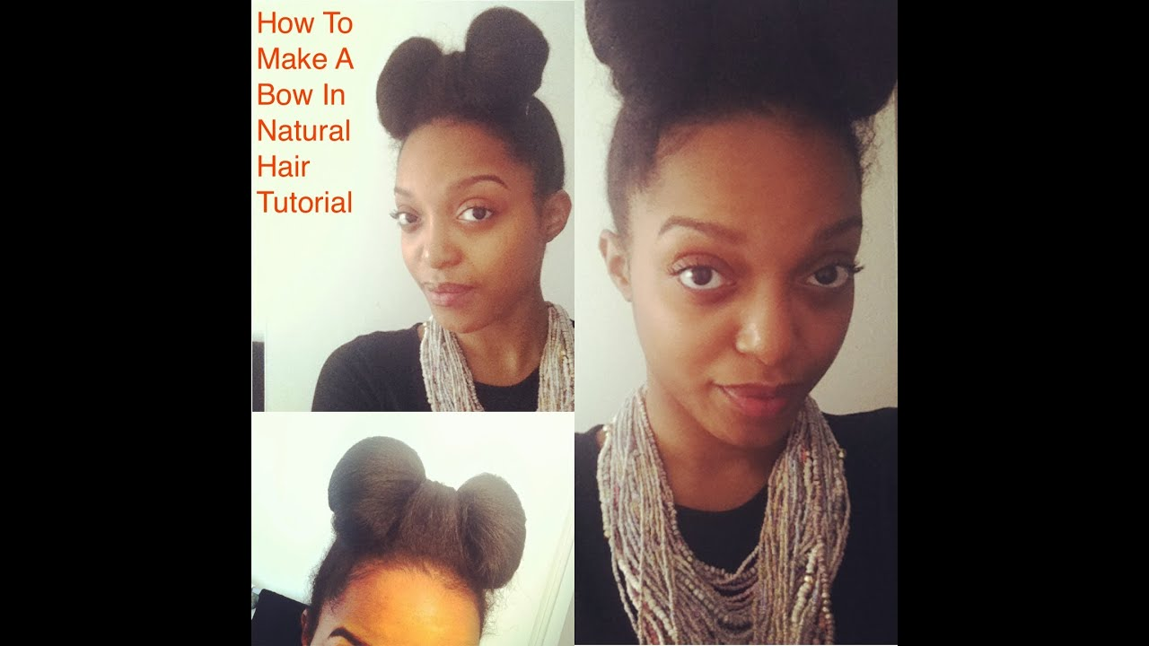 How To Make A Bow With Natural Hair