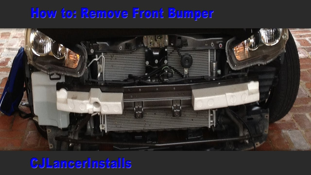 Cj Lancer How To Remove Front Bumper Youtube