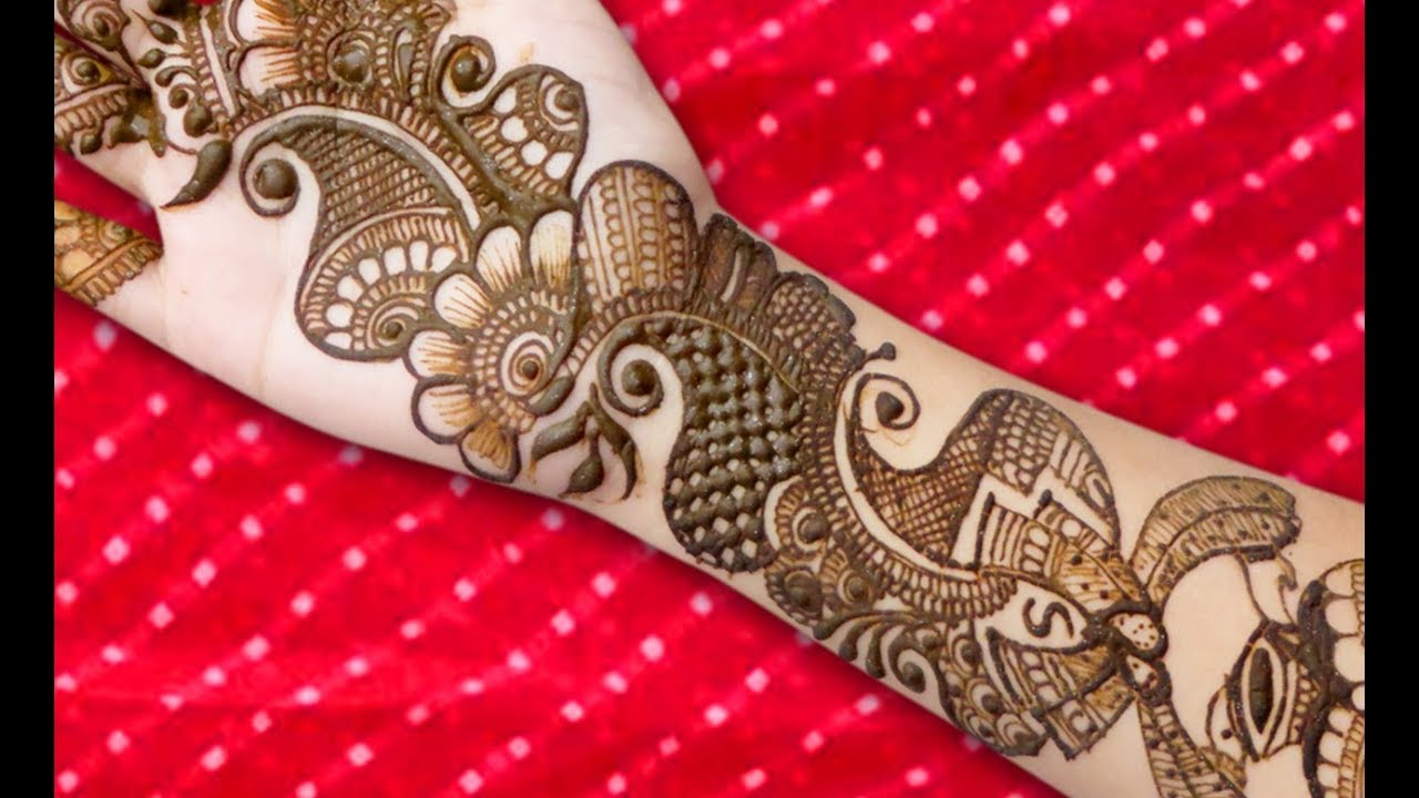 bridal arabic henna mehndi design