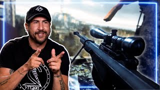 Sniper REACTS to ALL GHILLIED UP mission from CoD 4: Modern Warfare   Experts React