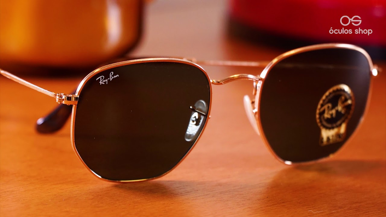 8d19d4bdb1 Ray Ban Hexagonal RB3548 - Unboxing. Óculos Shop
