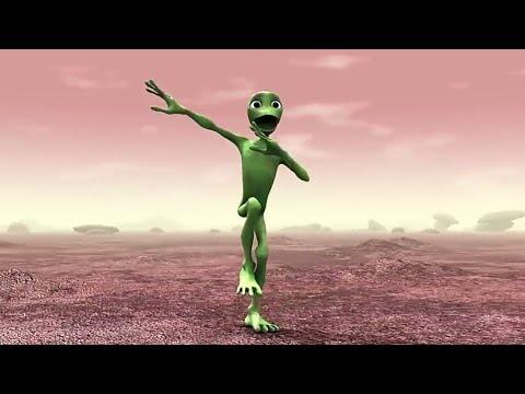 extraterrestre bleu qui danse