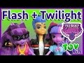 Flash Sentry + Twilight Sparkle Equestria Girls Friendship Games MLP Dolls! Review by Bin's Toy Bin