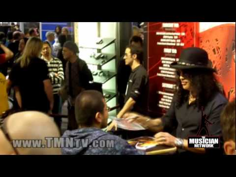 WINTER NAMM 2010 - SLASH @ MARSHALL Booth