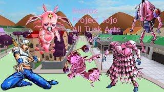 Roblox Project Jojo Remastered Tusk Showcase!