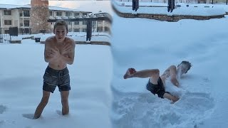 NAKED SNOW JUMPING! thumbnail