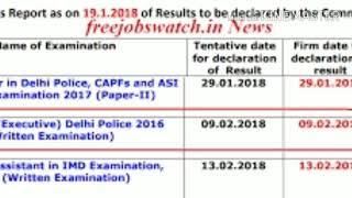 23 feb ki bhi affwa delhi police ka Result ki date not decided by RTI