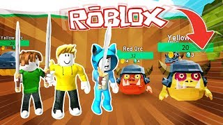 WE ARE MONSTER HUNTERS!! MONSTER HUNTER IN ROBLOX 💙💚💛 BE MILO VITA AND ADRI 😍 AMIWITOS