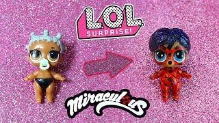 La fake LIL Sister diventa mini Ladybug di Miraculous 🐞[Trasformazione LOL Surprise]