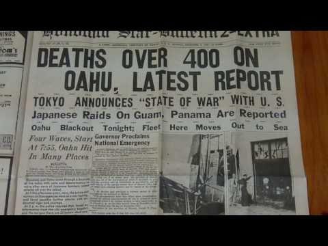 Honolulu Star - Bulletin 1st Extra Newspaper Sunday December 7 1941