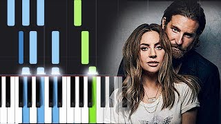 Lady Gaga, Bradley Cooper - Shallow (A Star Is Born) Piano Tutorial Video
