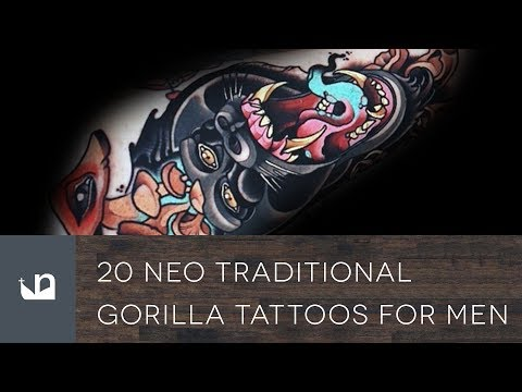 20 Neo Traditional Gorilla Tattoos For Men