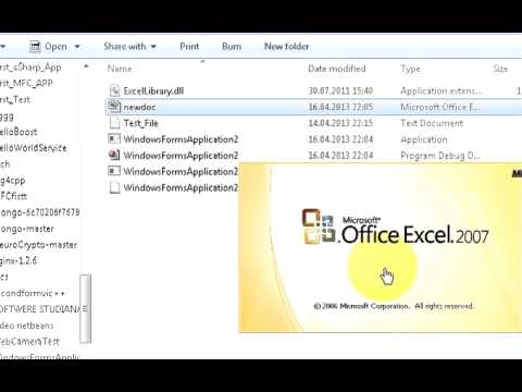 Create Excel ( XLS and  XLSX) file from C# Using