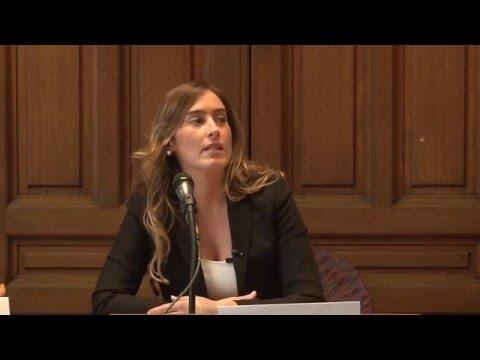 Ministro Maria Elena Boschi - Public Lecture, Sorbonne University - Paris 2015