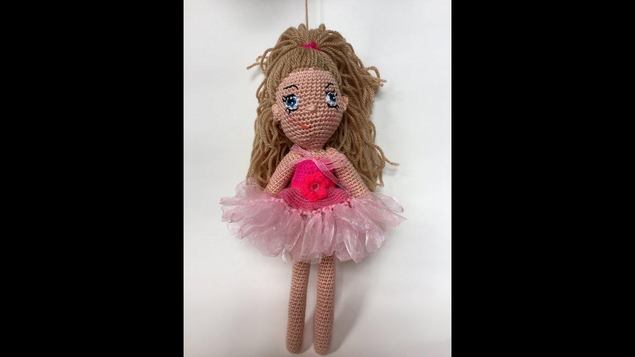 Crochet Doll Dress Tutorial - YouTube