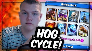 super quick 2 8 hog cycle deck for grand challenges tournaments clash royale