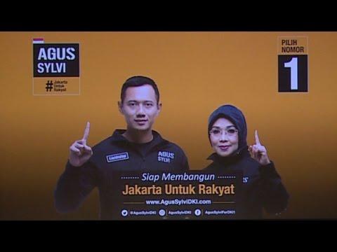 Pidato politik calon gubernur DKI nomor urut 1 Agus Yudhoyono MSc, MPA, MA