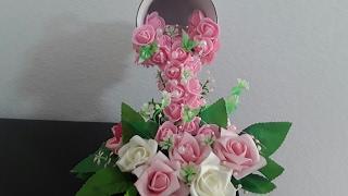 Como hacer una Cascada de flores con una taza y un plato💋💋💋💋❤💓💜💛💚💙💗💖💕💝💞💜💟