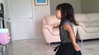 """2 Years Old sing and Dancing with Alvin the Chipmunk """"Shake Your Groove Thing"""""""
