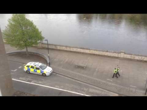 Police Scotland Perth respond sympathetically after activity/incident on tiny Moncreiffe Island