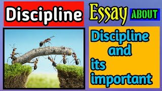 ESSAY on DISCIPLINE and its important/Essay of Discipline by T2 Creater.