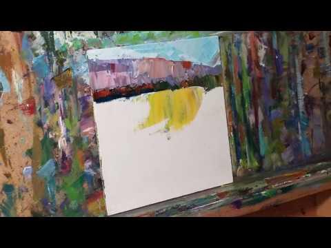 Artist JOSE TRUJILLO Impressionist Oil Painting Landscape – Western Art Demo