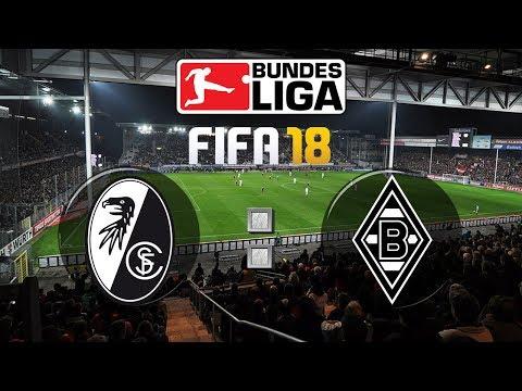 FIFA 18 Bundesliga Sport-Club Freiburg : Borussia Mönchengladbach | Gameplay Deutsch Livestream
