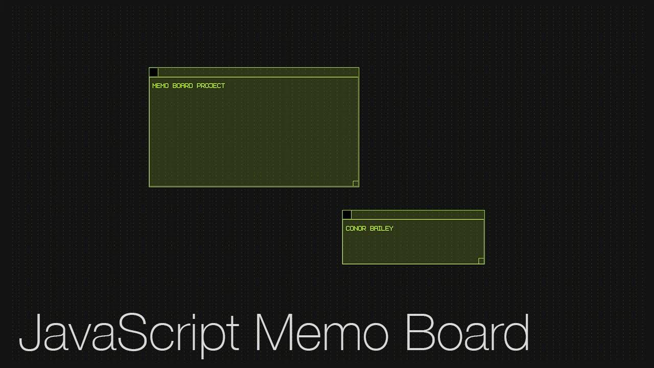 JavaScript Project: Memo Board