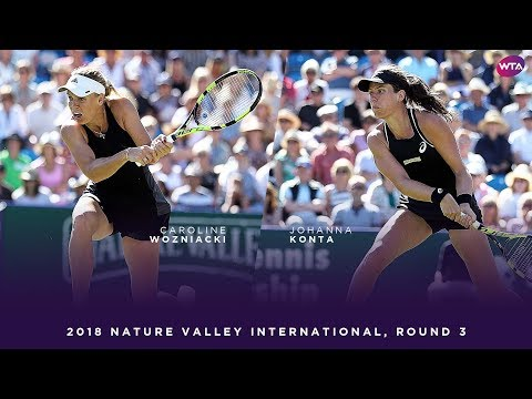 Caroline Wozniacki vs. Johanna Konta | 2018 Nature Valley International Third Round | WTA Highlights