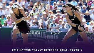 Caroline Wozniacki vs. Johanna Konta | 2018 Nature Valley International Third Round | WTA Highlights