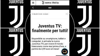 La Juventus TV ON DEMAND su smartphone, tablet e computer.