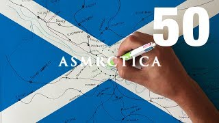 ASMR 1 Hour Drawing Map of Glasgow Public Transportation System | Binaural Soft Spoken