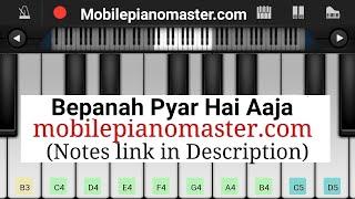 Bepanah Pyar Hai Aaja Piano   Piano Notes   krishna cottage   Mobile piano   old song piano   Music