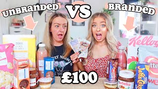 BRANDED VS UNBRANDED FOOD CHALLENGE! £100 PRIZE!